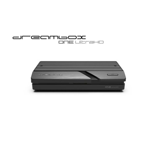 Dream Multimedia Dreambox One Ultra HD 2x DVB-S2X MIS Tuner 4K 2160p E2 Linux Dual Wifi H.265 HEVC