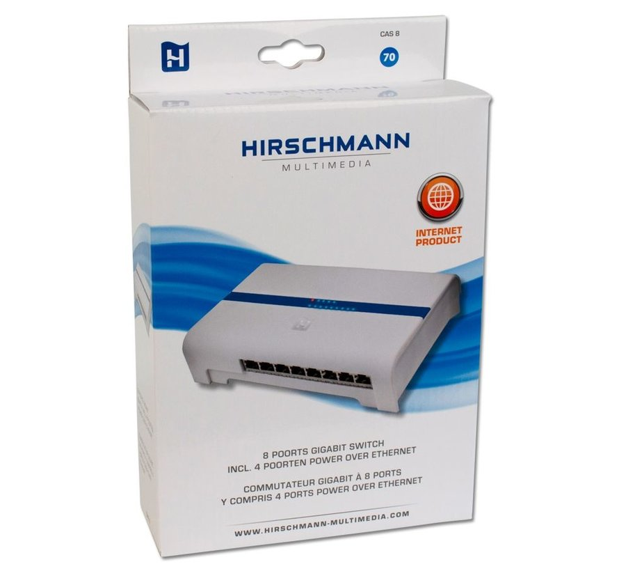 Hirschmann CAS 8-Poorts Gb switch 4xPoE