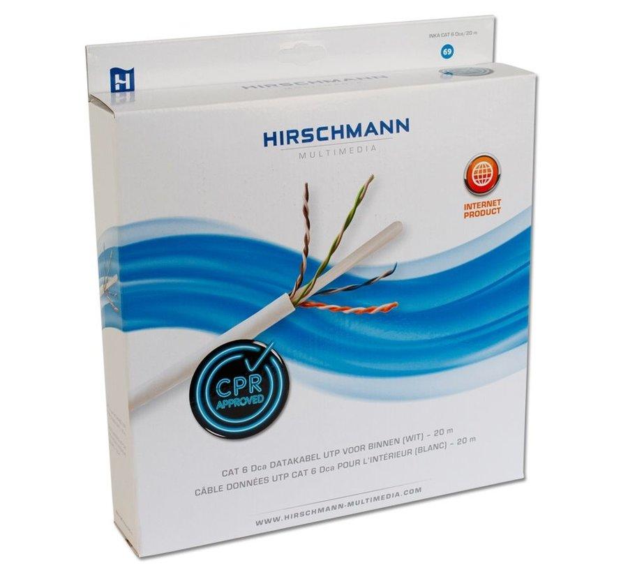 Hirschmann INKA CAT 6 Dca/20 M CAT 6 UTP,20 Mtr Doos,Wit,Dca