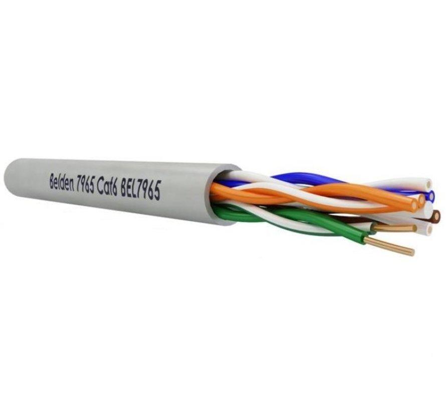 Belden CAT6 UTP Kabel 4X2XAWG23 7965E Grijs haspel 500m