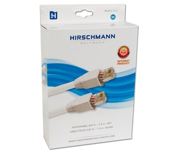Hirschmann Hirschmann INKAB 5 patchkabel CAT 6 kleur wit