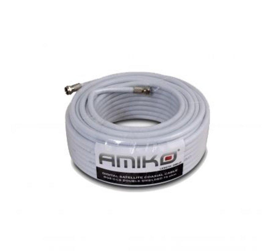 20m Amiko Coaxkabel op maat en gemonteerde F connectors