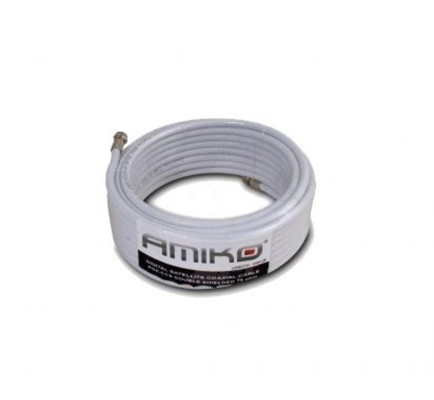 10m Amiko Coaxkabel op maat en gemonteerde F connectors