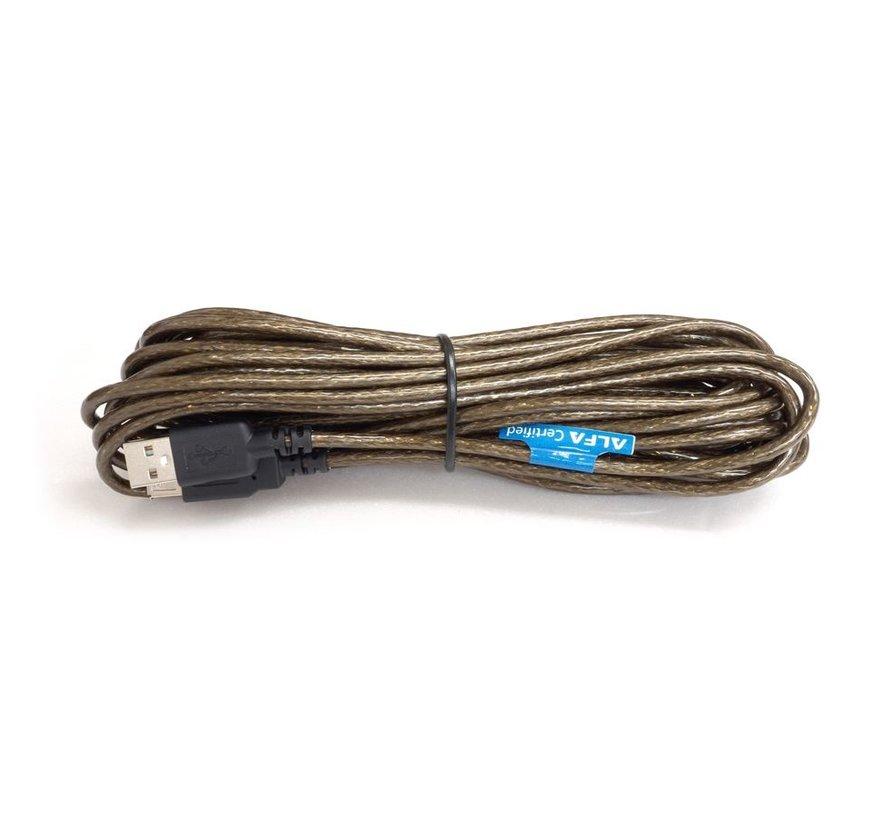Alfa Network AUSBC-8AF USB kabel 8 meter USB 2.0 A>A M/F