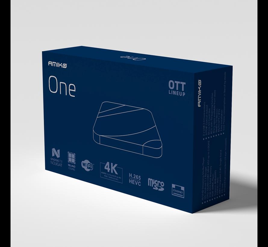 Amiko One OTT - 4K UHD - Android 7.1 - H.265 HEVC