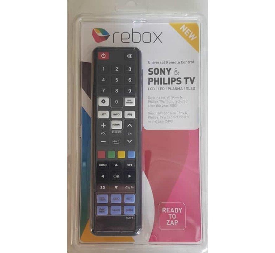 Universele Sony en Philips TV afstandsbediening LCD | Plasma | LED | OLED