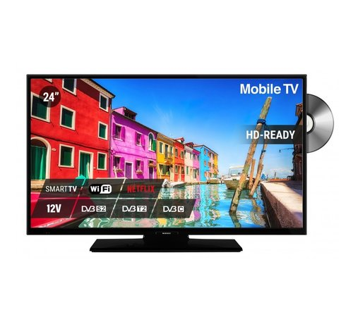 """Nikkei Nikkei NLD24M SMART 24"""" 12V LED FHD DVD S2/C/T2 CI+ HEVC"""