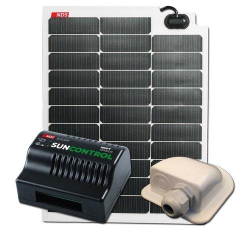 NDS NDS SOLARFLEX EVO 50W Flex Zonnepaneel Set + SC300M KPE50WP