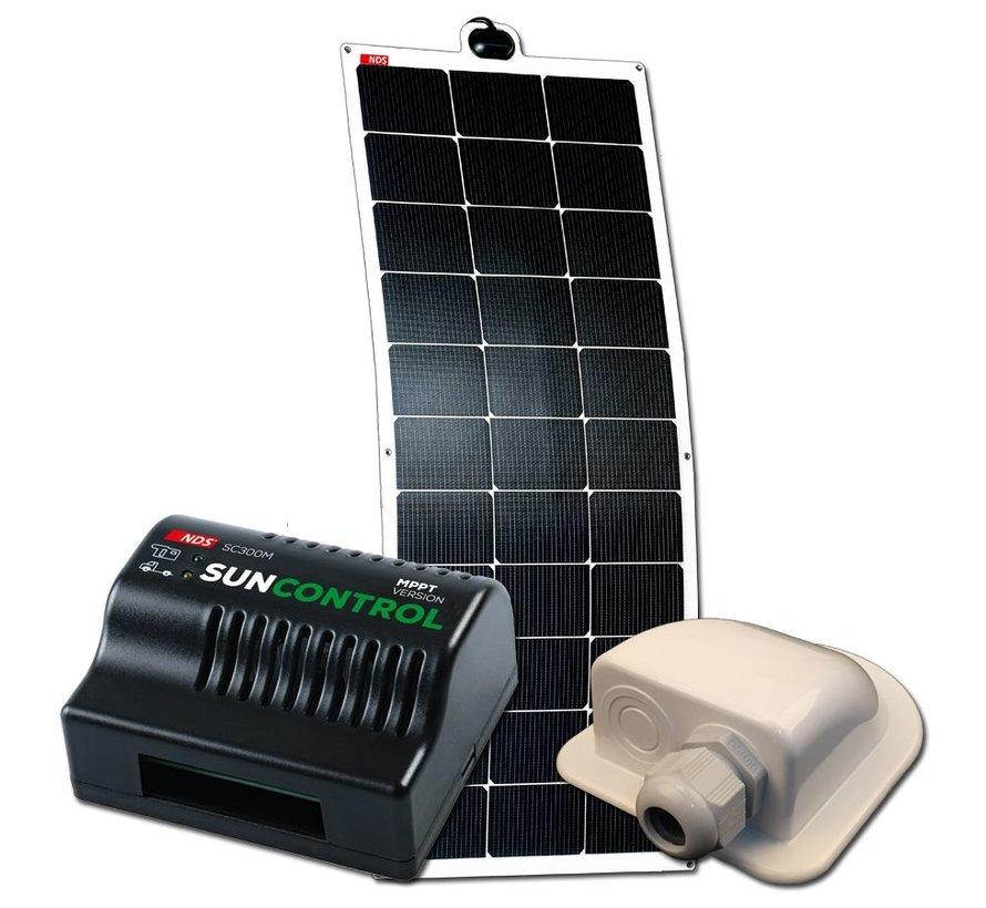 NDS Solarflex EVO 110W Flex Zonnepaneel Set +SC300M KPE110WP