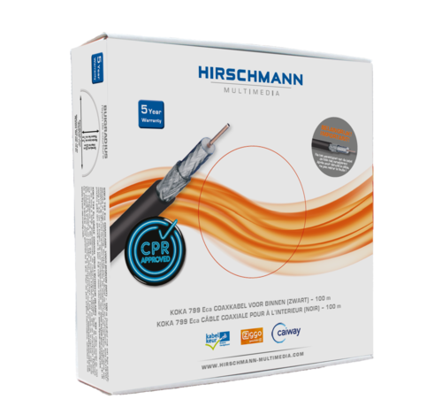 Hirschmann Hirschmann KOKA 799 Eca coaxkabel kleur zwart 100 meter