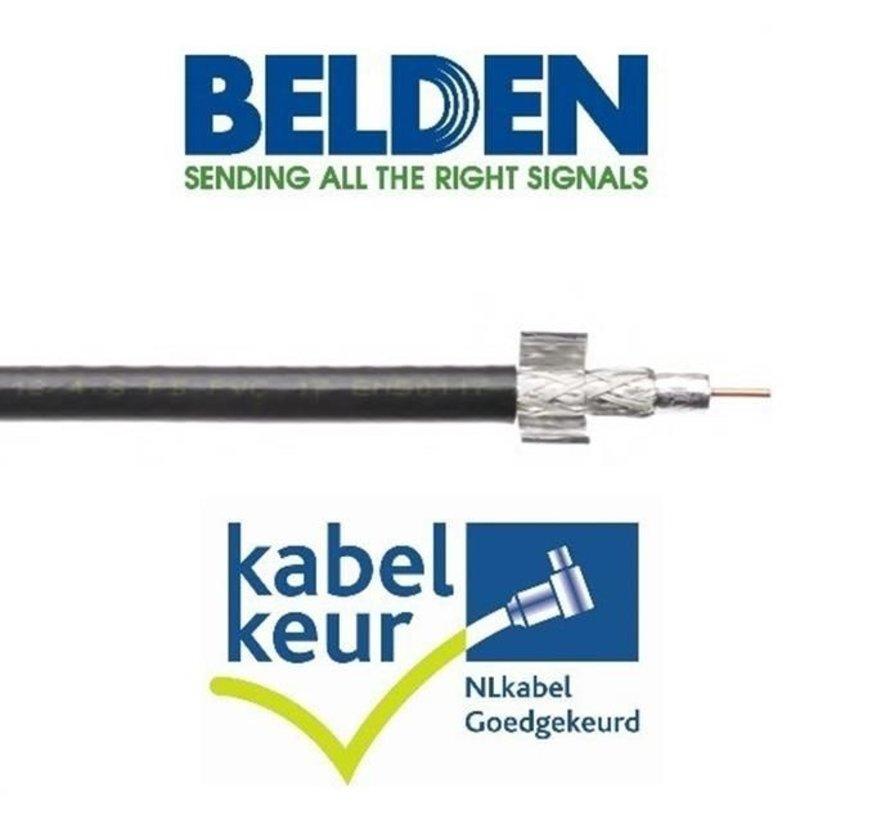 Belden CX9D0 Coax 9 DuoBond+ PVC Kabelkeur zwart per meter
