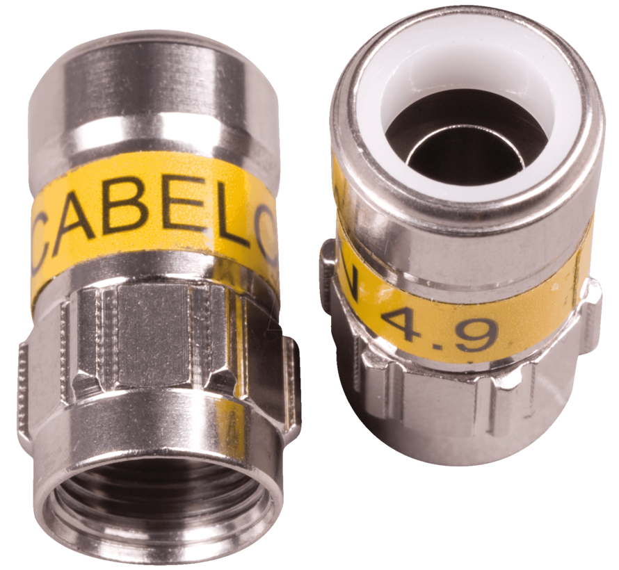 Cabelcon F-56 4.9 Self Install F-connector voor H126