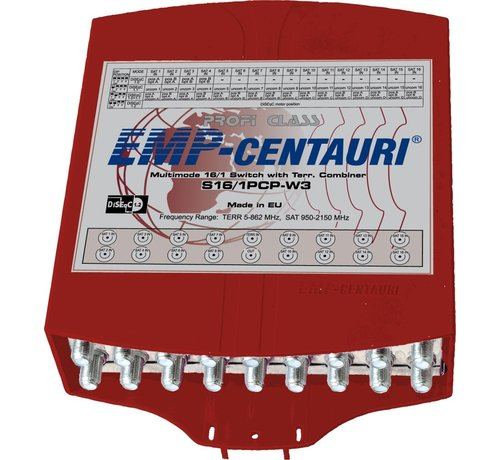 EMP Centauri EMP DiSEqC 16/1 switch inclusief behuizing