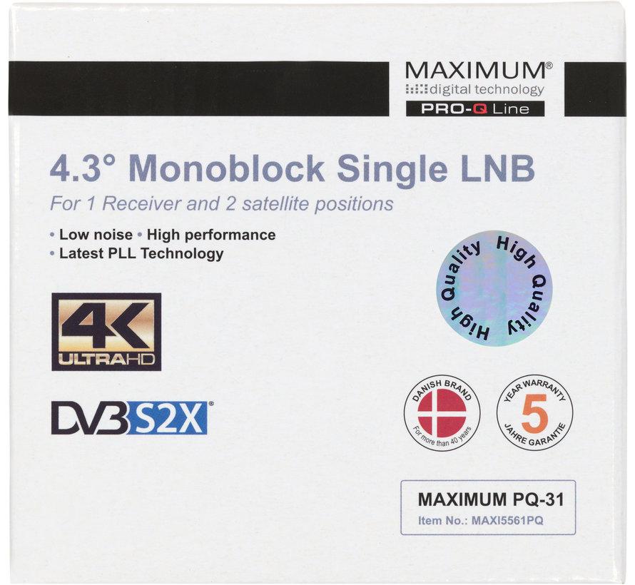 Maximum PQ-31 DUO LNB single 80cm