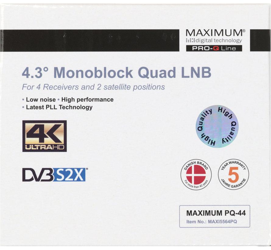 Maximum PQ-44 DUO LNB quad 80cm