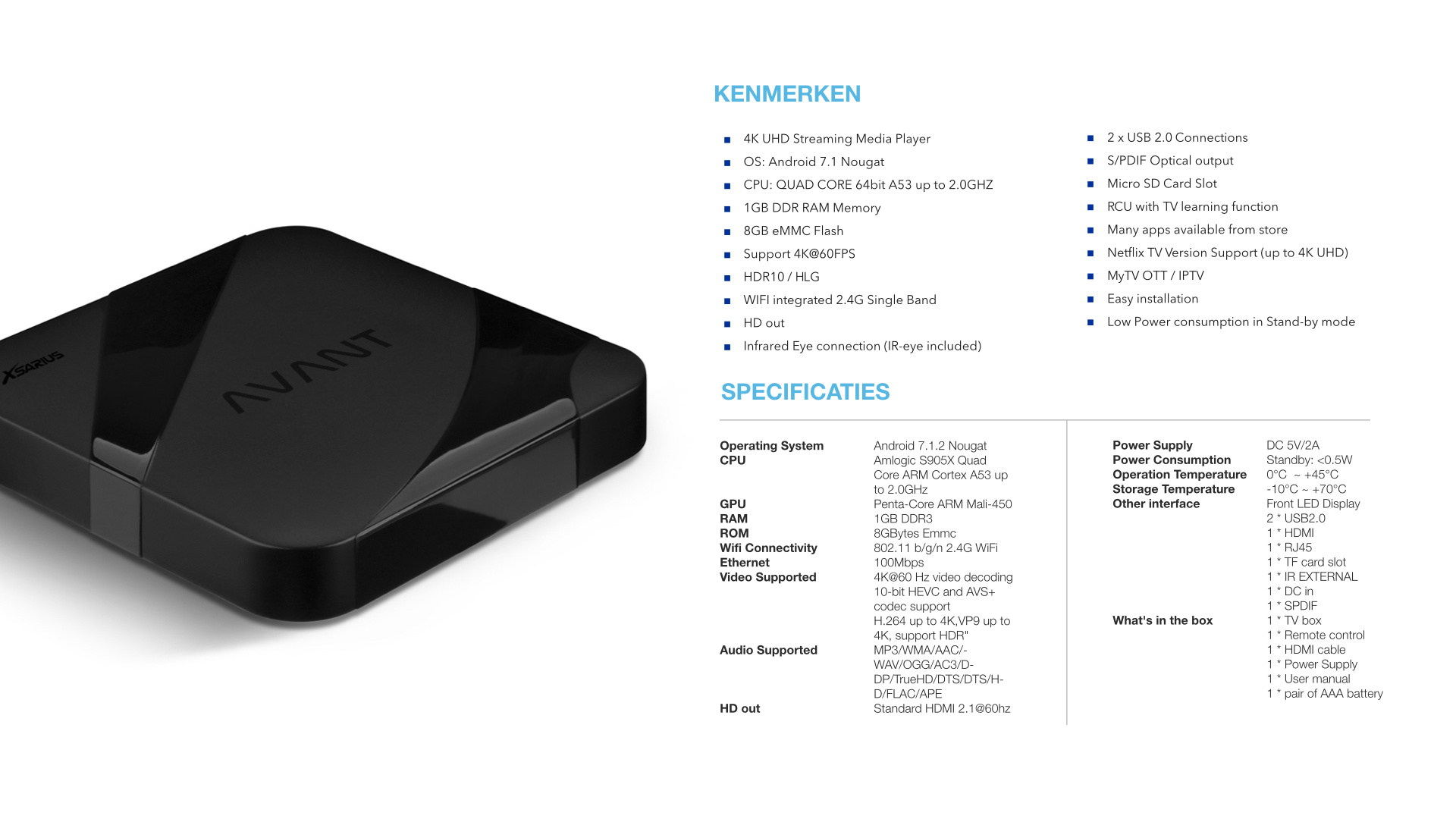 Xsarius Avant Android OTT