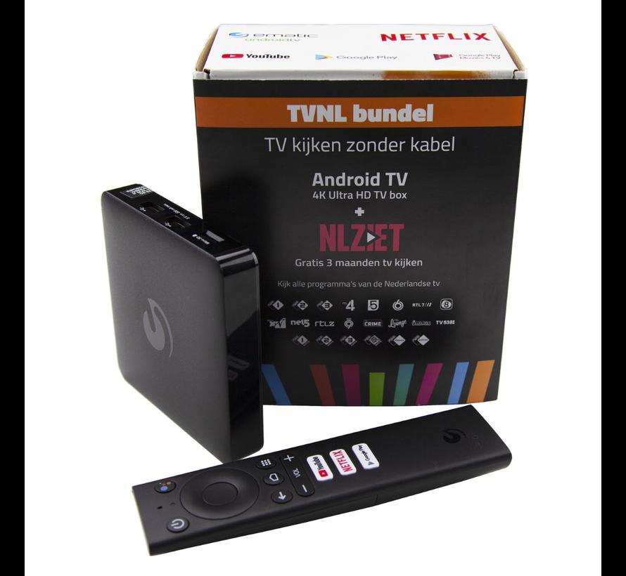 NLZIET bundel - Android TV - 4K Ultra HD TV box +  3 maanden NL ZIET TVNL