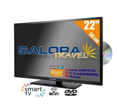 "Salora Salora 22"" Travel TV CI DVB-S2/C/T2 12/230V SMART/DVD/WIFI"