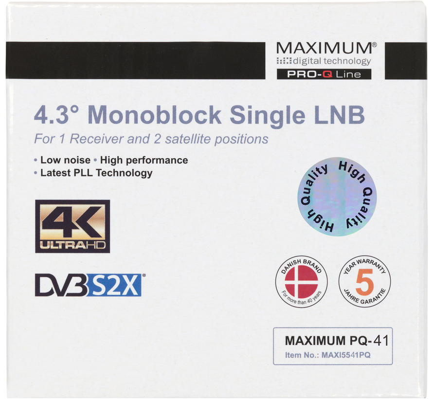 Maximum PQ-41 DUO LNB single 60/65cm