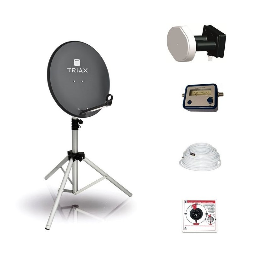 BCK TravelSat TS65A/DS recreatieset - DUO single LNB
