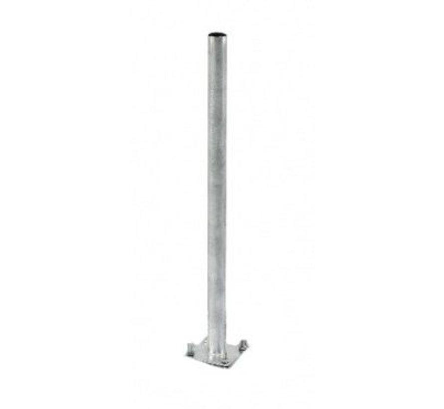Bente mast 200cm lang met 60mm diameter voor tegelvoet