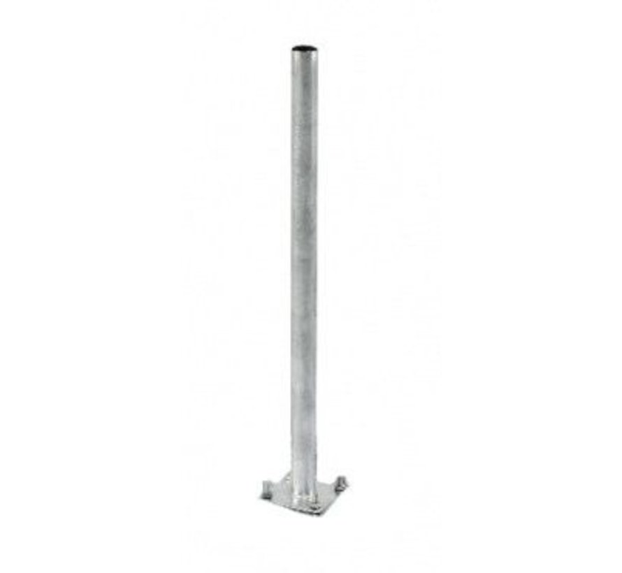 Bente mast 200cm lang met 42mm diameter voor tegelvoet