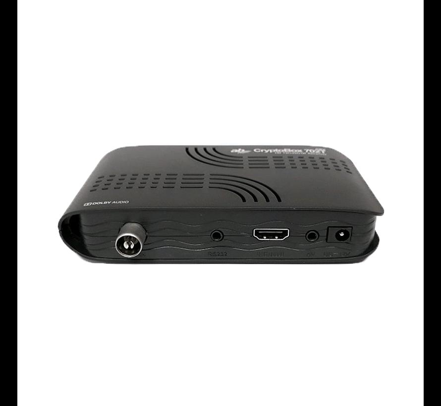 Cryptobox 702T mini – DVB-T2 - HEVC H.265 ontvanger