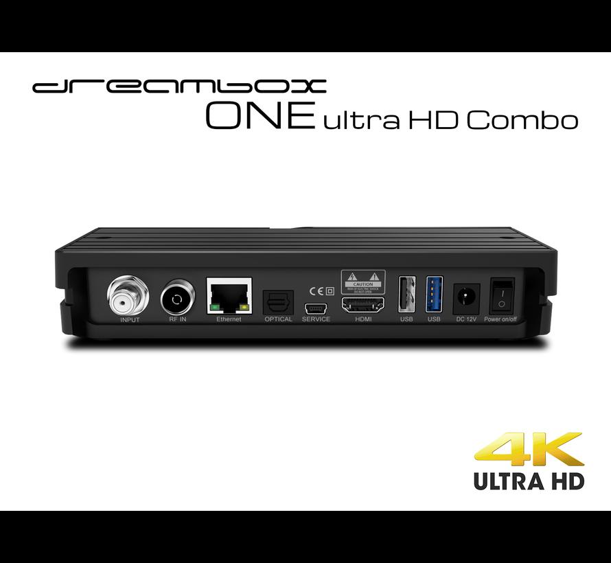 Dreambox One Combo Ultra HD 1x DVB-S2X MS / 1x C/T2 Tuner 4K 2160p E2 Linux Dual Wifi H.265 HEVC