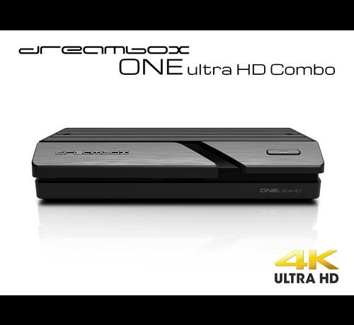 Dream Multimedia Dreambox One Combo Ultra HD 1x DVB-S2X MS / 1x C/T2 Tuner 4K 2160p E2 Linux Dual Wifi H.265 HEVC