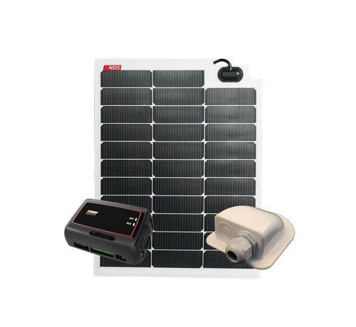 NDS NDS SOLARFLEX EVO 50W Flex Zonnepaneel Set + SC320M KPE50WP