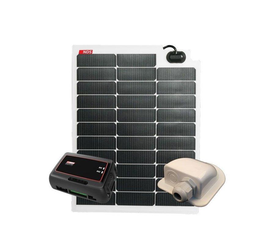 NDS SOLARFLEX EVO 50W Flex Zonnepaneel Set + SC320M KPE50WP
