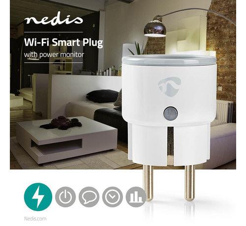 Nedis Wi-Fi smart plug | Stroommeter | Schuko type F | 10A
