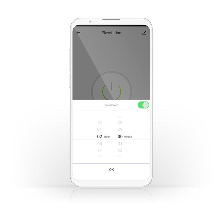Wi-Fi smart plug | Stroommeter | Schuko type F | 16A