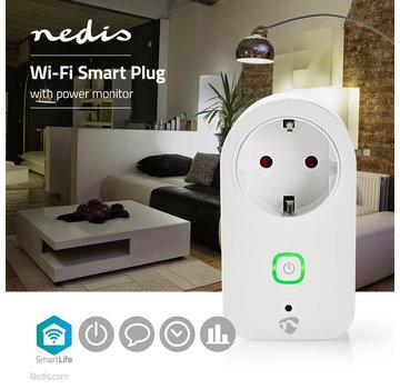 Nedis Wi-Fi smart plug | Stroommeter | Schuko type F | 16A