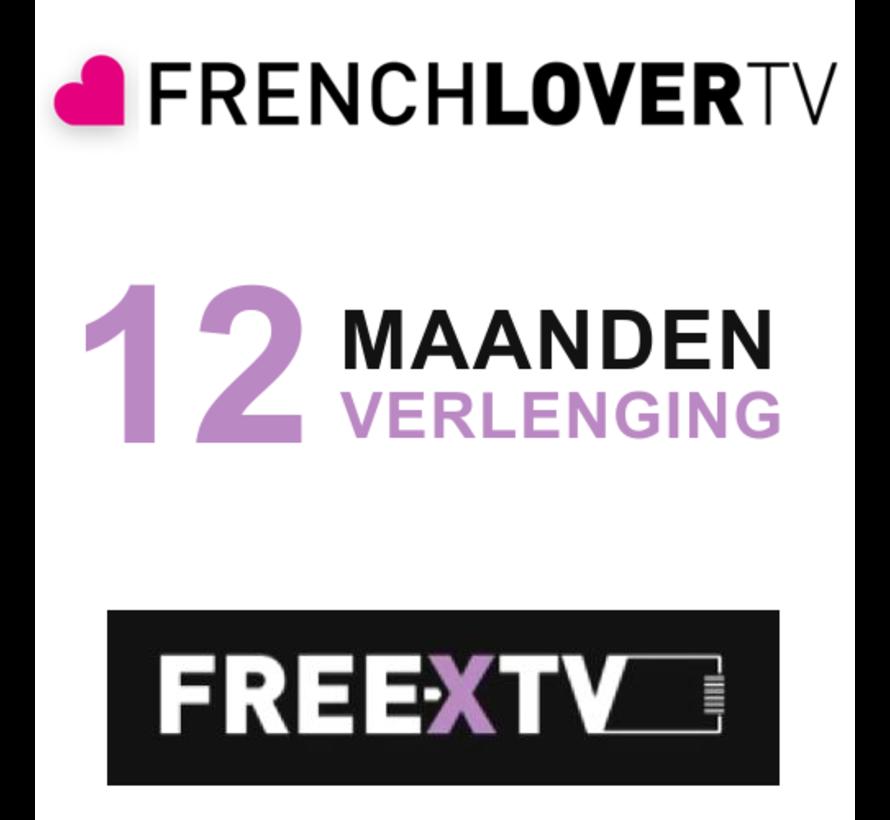 verlenging Free X  IP TV - PRO - 12 maanden zonder ontvanger