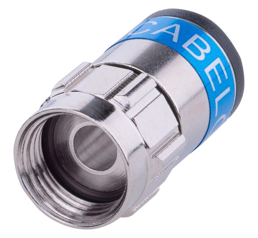 Cabelcon F-6-TD Self Install 5.1 blauw f-connector niti O-ring