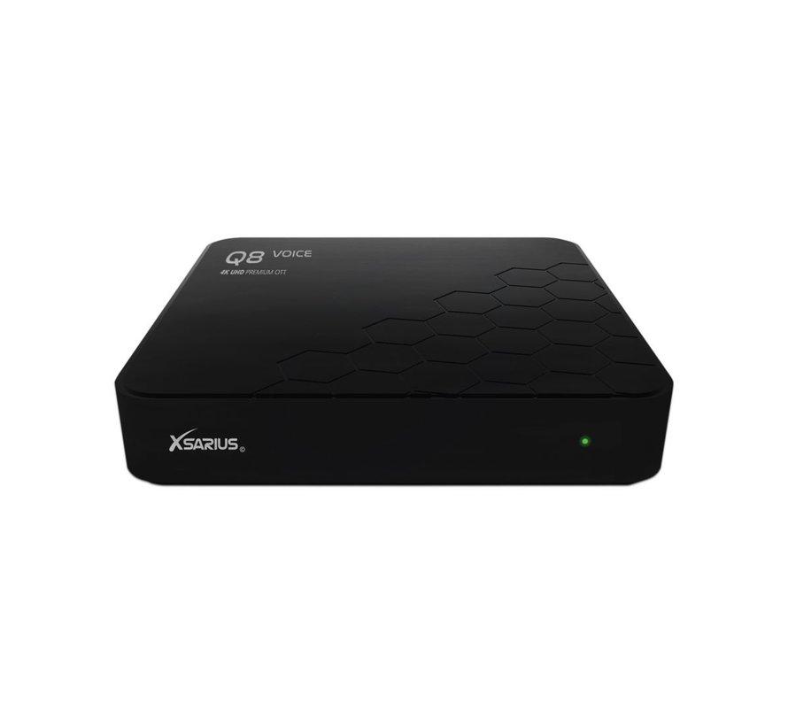 Xsarius Q8 Voice - 4K UHD - Premium OTT Media Streamer - Android 8.0 Oreo