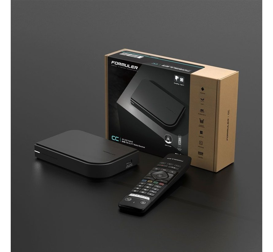 Formuler CC DVB-T/C + IPTV mediaspeler 4K UHD + GTV IR1