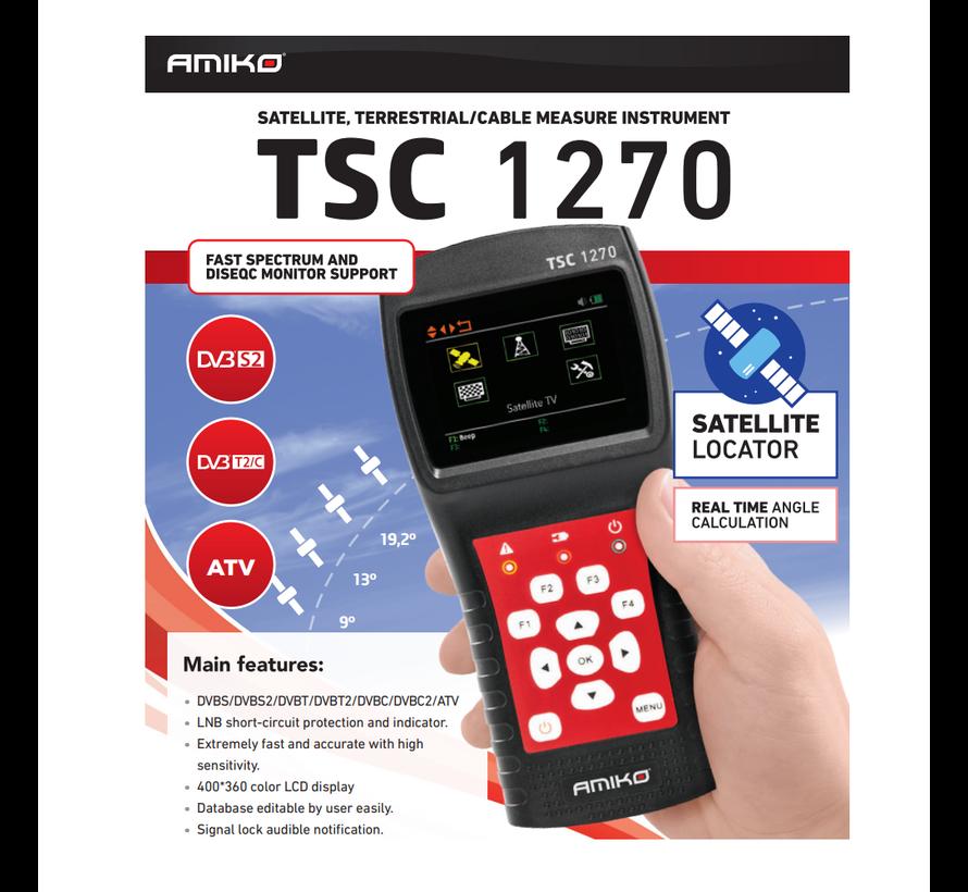 Amiko TSC 1270 signaalmeter DVBS/DVBS2/DVBT/DVBT2/DVBC/DVBC2/ATV