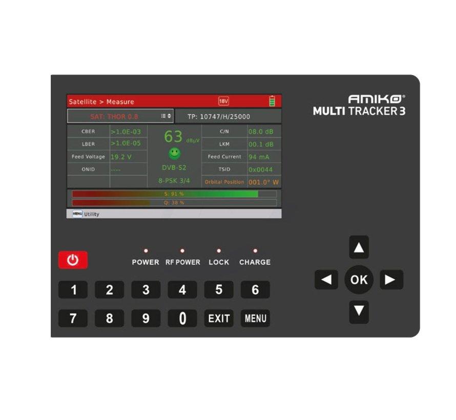 "Amiko Multitracker 3 - Professional Hybrid DVB Meter - 5"" Colour Display"