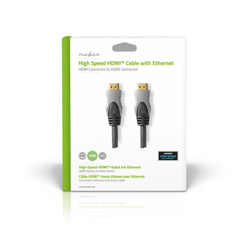 Nedis HDMI kabel Hoge kwaliteit High Speed met ethernet 10.0 m