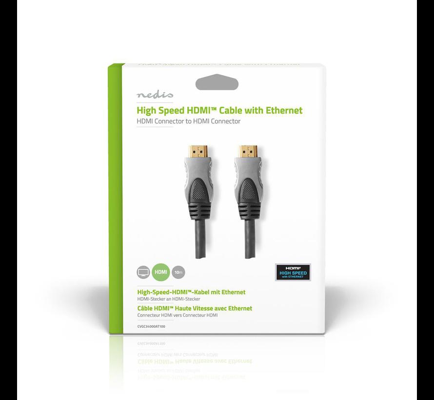 HDMI kabel Hoge kwaliteit High Speed met ethernet 10.0 m