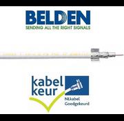 Belden Belden CX9D0  coax 9 Duobond+ PVC kleur wit meter