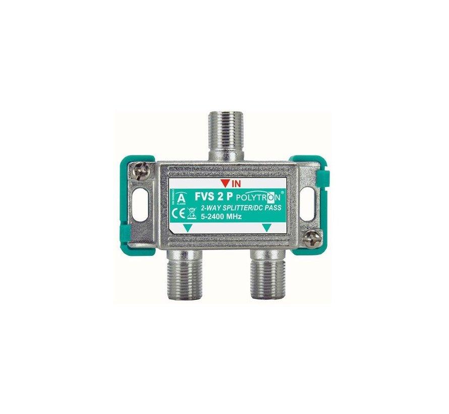 Polytron FVS2 signaal splitter 2-voudig 5-2400 Mhz