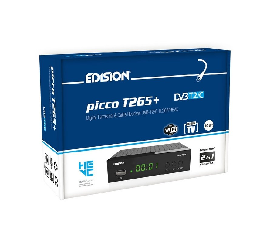 Edision Picco T265+ DVB-T2C H.265 HEVC