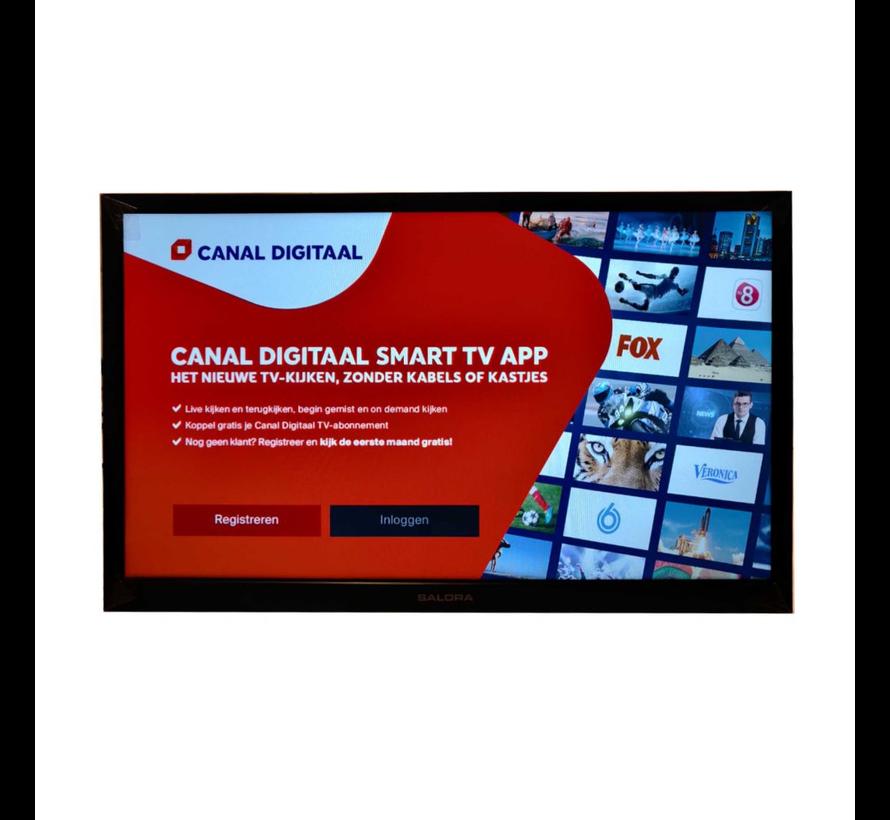 "Salora 24"" Travel TV CI DVB-S2/C/T2 12/230V SMART/DVD/WIFI"