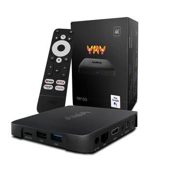 YAY GO - Android TV 4K UHD OTT IPTV mediaspeler met Chromecast