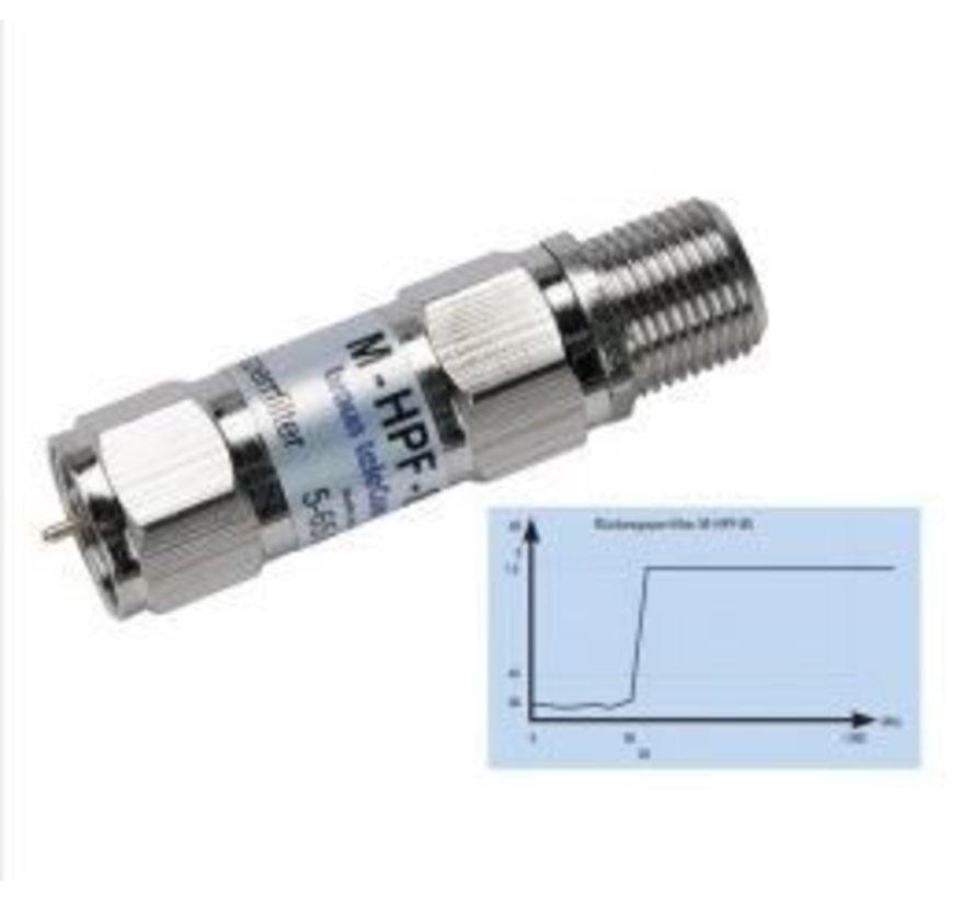 Braun Telecom M-HPF-85 retourband sperfilter F-Male/Female