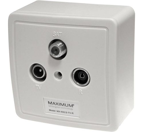 Maximum Maximum Wandcontactdoos in- en opbouw SAT - RTV