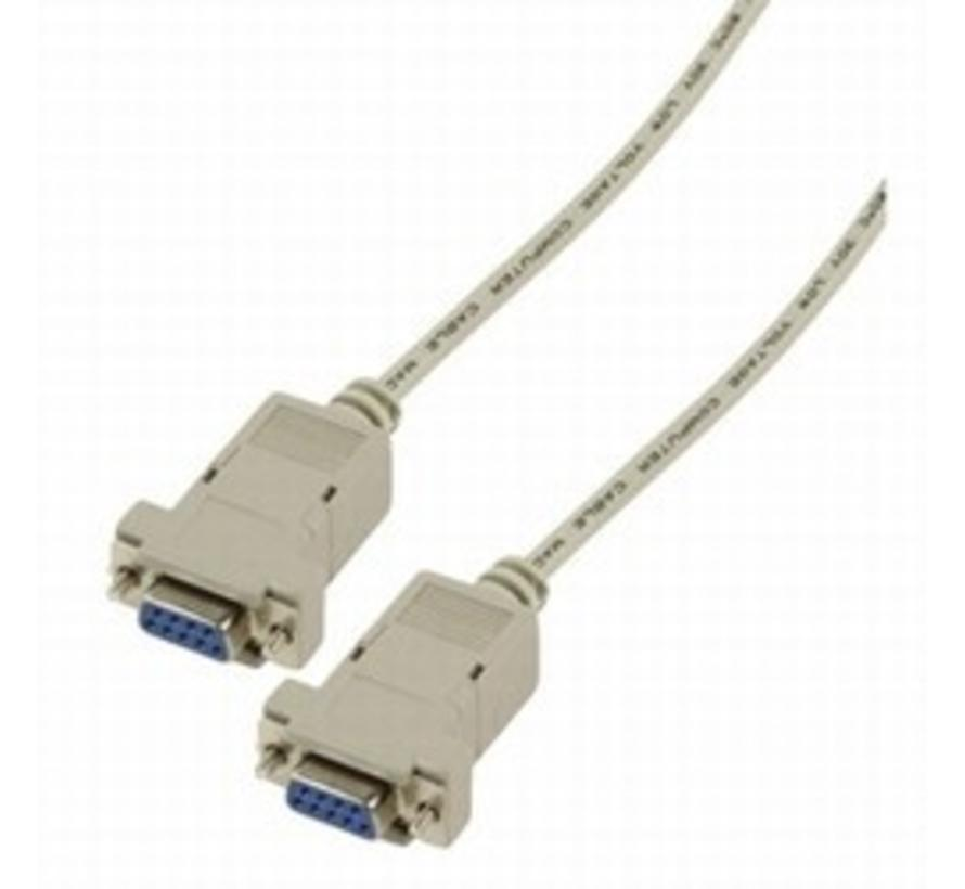 Null modem kabel Female-Female connector 1 meter 80